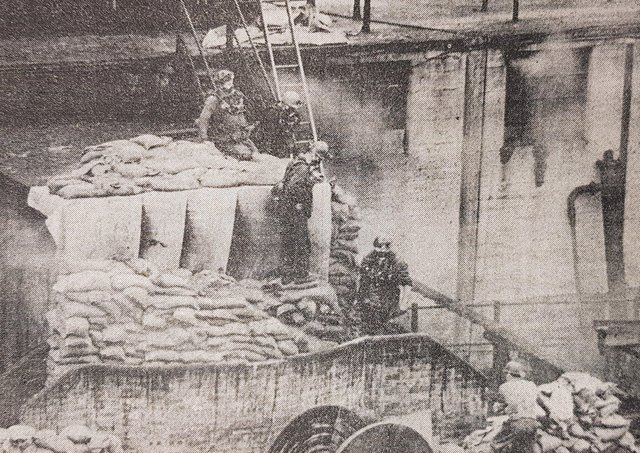 Rescue workers tackle the underground fire at Michael Colliery in September 1967 which killed nine miners.
