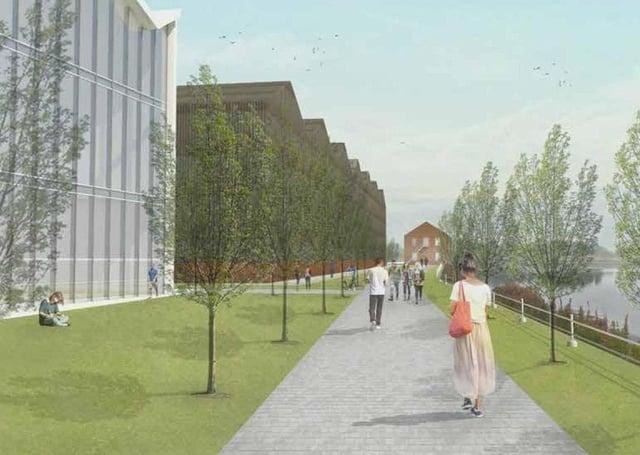 An artist's impression of St Andrews University's Eden Campus