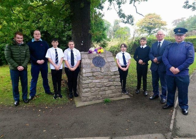 Members of 1192 (Kirkcaldy) Squadron air cadets held a memorial service  for the two men killed in the 1957 accident last year.