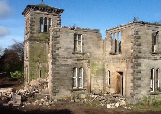 Greenmount house was gutted by fire and then demolished.