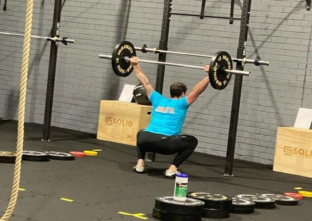 Huw Davis (pictured) owns Strength Lab Crossfit in Randolph Industrial Estate, Kirkcaldy, with his wife Sam.