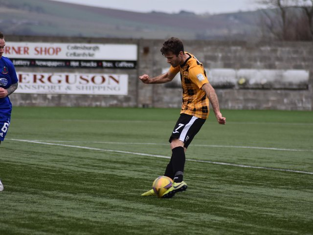 Danny Denholm scored the only goal of the game for East Fife
