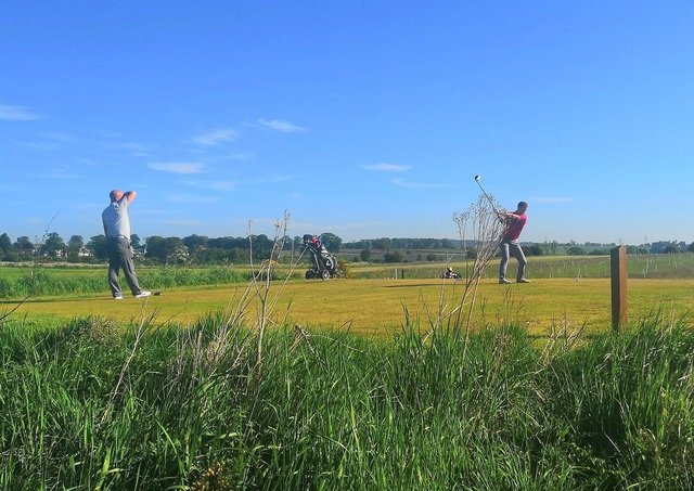 Golfers enjoy getting back on to the fairways at Elmwood Golf Course