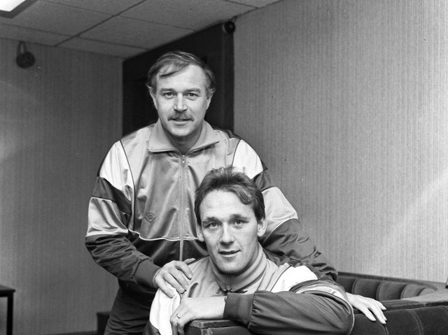 Walter Borthwick pictured with Sandy Clark