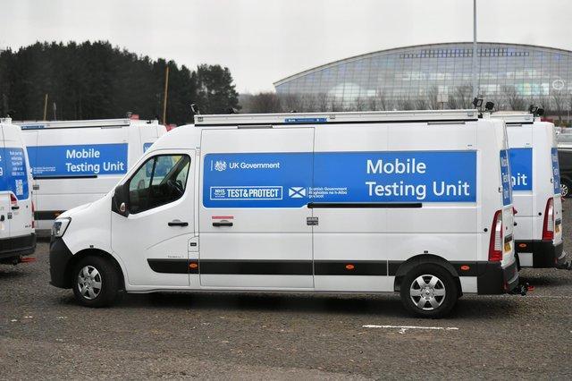A mobile testing unit. Pic: John Devlin.