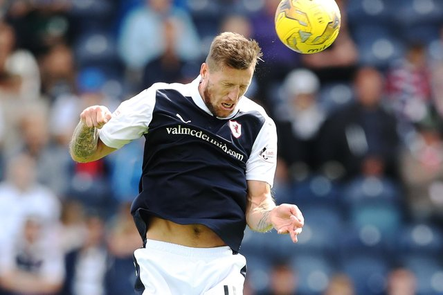 Iain Davidson playing for Raith Rovers against Alloa Athletic at Stark's Park in Kirkcaldy in July 2016 (Photo by Ian MacNicol/Getty Images)