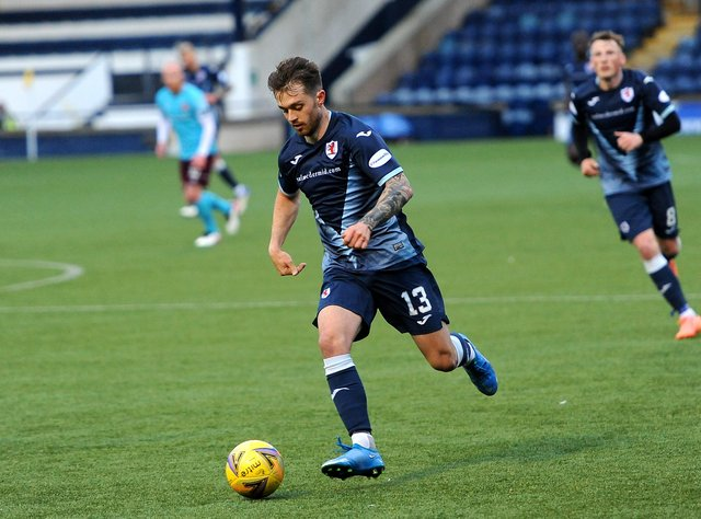 Brad Spencer in action against Hearts (Pic: Fife Photo Agency)