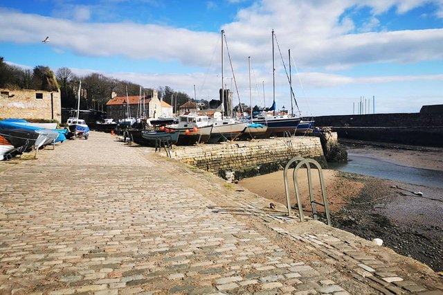 The historic walkways at Dysart Harbour