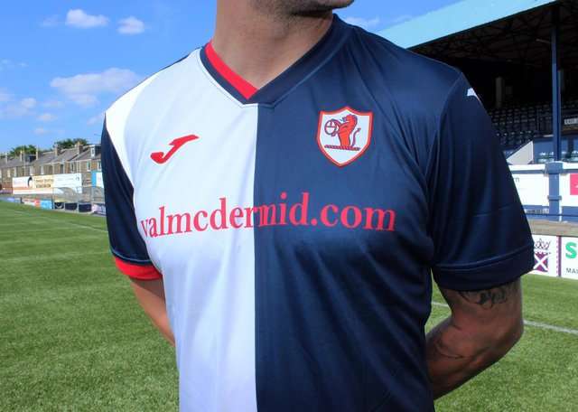 Raith Rovers new home top for 2021/22.