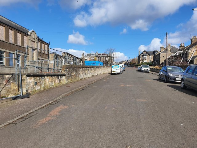 Residents have raised concerns about the houses which will be built on this hill facing into Viewforth Gardens.