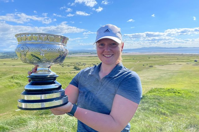 Chloe Goadby, from St Andrews, scored a deserved success at Gullane over the weekend. Picture courtesy of Scottish Golf