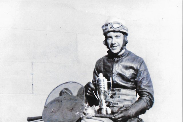 Colin Campbell pictured with the Fidelity Trophy in 1953 (Pic: Kirkcaldy & District Motor Club)