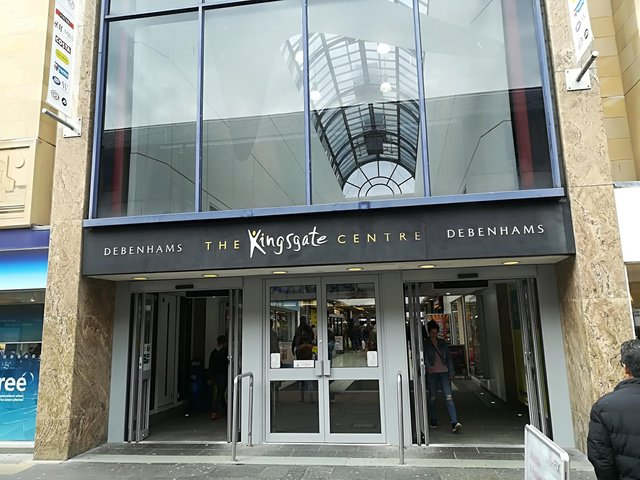 The incident happened at the Kingsgate Centre, Dunfermline.