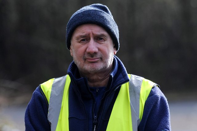 Fife litter picking champion David Spence who has been nominated for an award. Pic: Fife Photo Agency