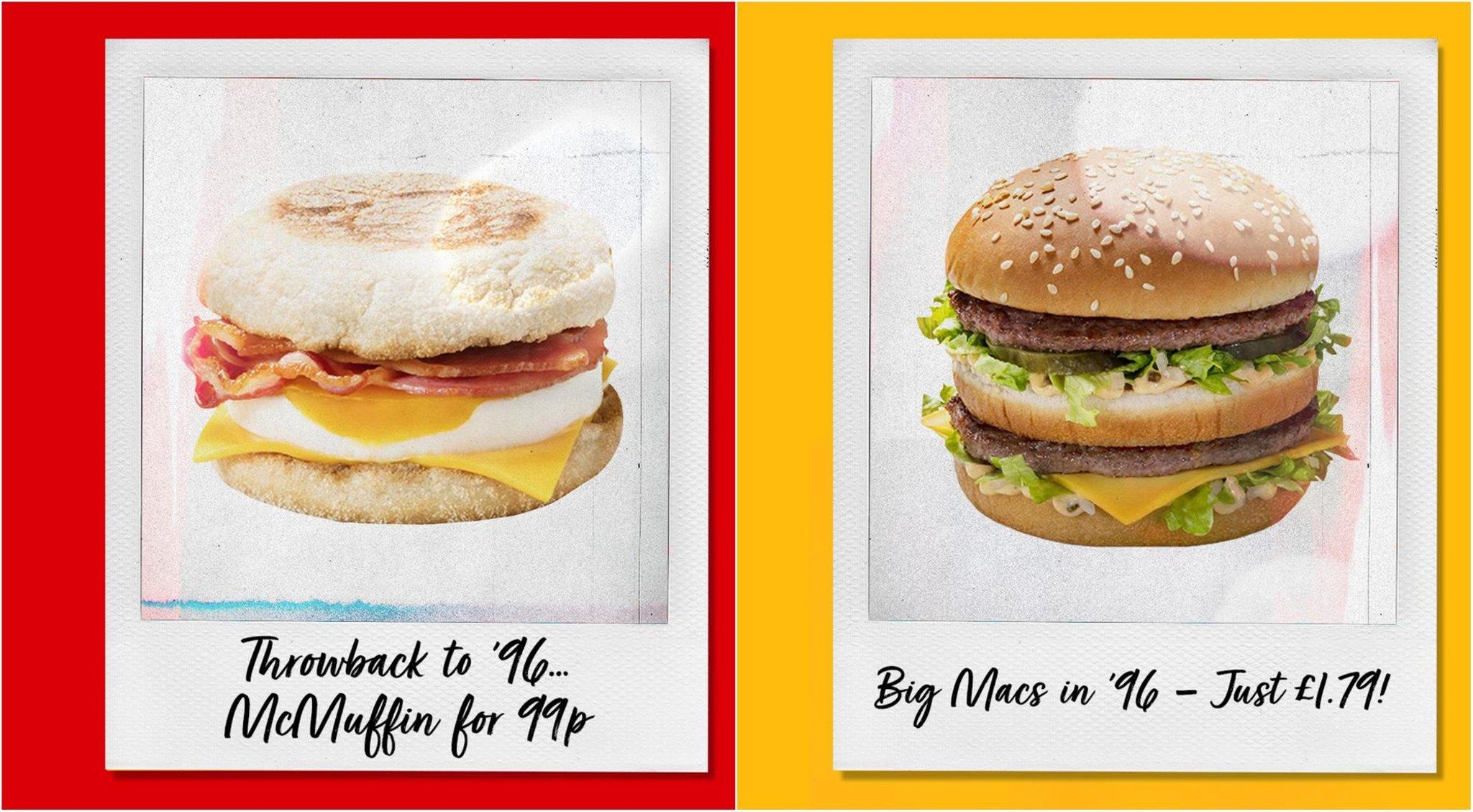 England vs Scotland: McDonald's rolls back prices 25 years ...