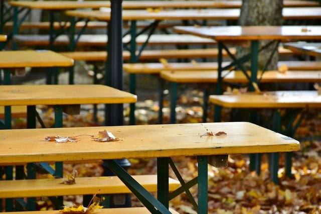 No bookings required as tables in beer gardens sit empty