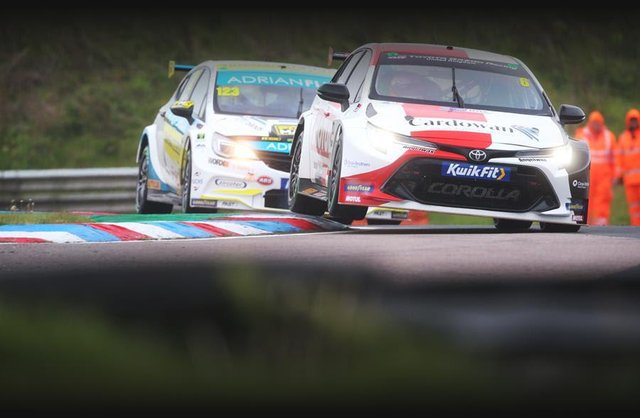 Rory Butcher on the track at Thruxton