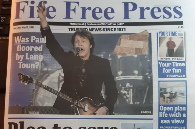 Front page of this week's Fife Free Press