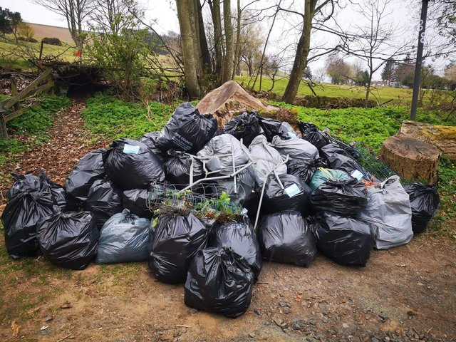 Some of the rubbish collected.