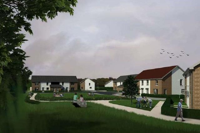 The proposed development in Gauldry