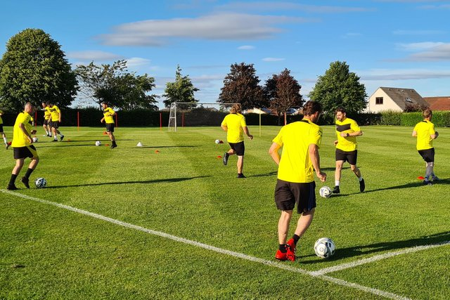 The Fife Thistle squad are put through their paces ahead of the new season starting