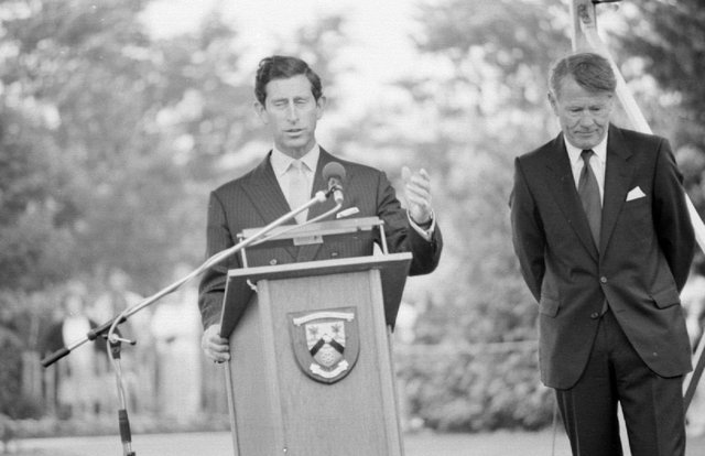 Prince Charles on a visit to Glenrothes in 1988 as part of the town's 40th anniversary celebrations.