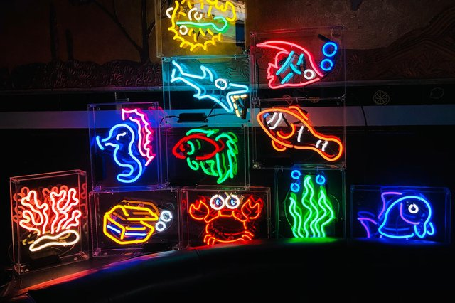 Neon lights for the Variety Bar, Glasgow