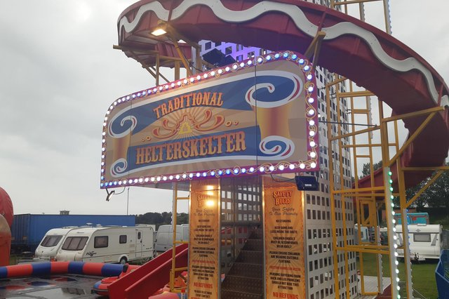 Burntisland Shows at the Links- and no funfair is complete without a traditional helter skelter