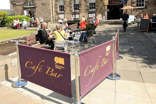 The Advantage alfresco cafe is set to return to the Adam Smith Theatre (Pic: Fife Photo Agency)