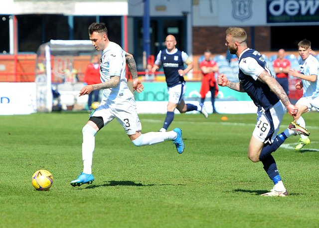 Kieran MacDonald in action against Dundee (Pic: Fife Photo Agency)