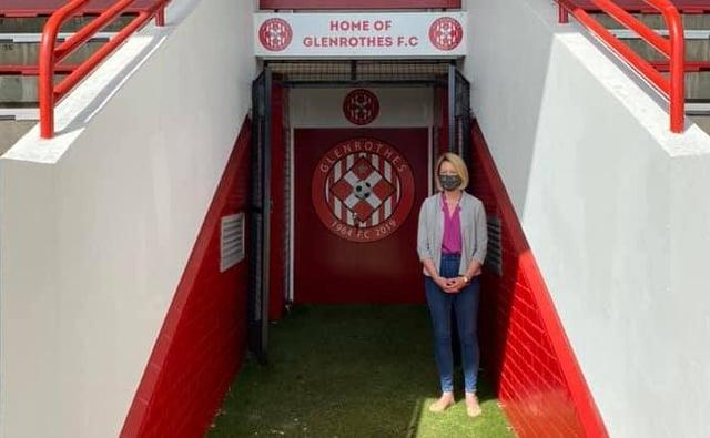 Glenrothes MSP Jenny Gilruth at Warout Stadium