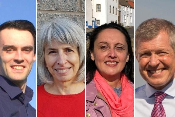 The candidates standing in noorth-east Fife