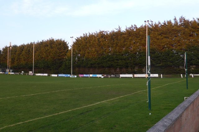The new lights around the pitch are a crucial part of St Andrews United's application for SFA membership
