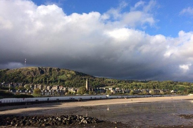 The view looking across to Burntisland