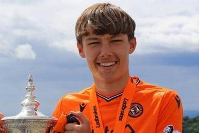 Former AM Soccer player Archie Meekison. Pic courtesy of Dundee United.