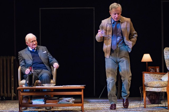 Oliver Ford Davies and Stephen Boxer as Graham Greene and Kim Philby in A Splinter of Ice