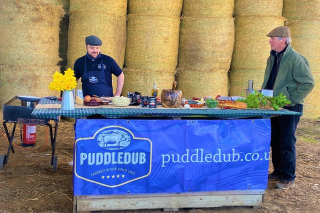Tom Mitchell (right) and in-house chef Graham launch Puddledub's new online masterclass
