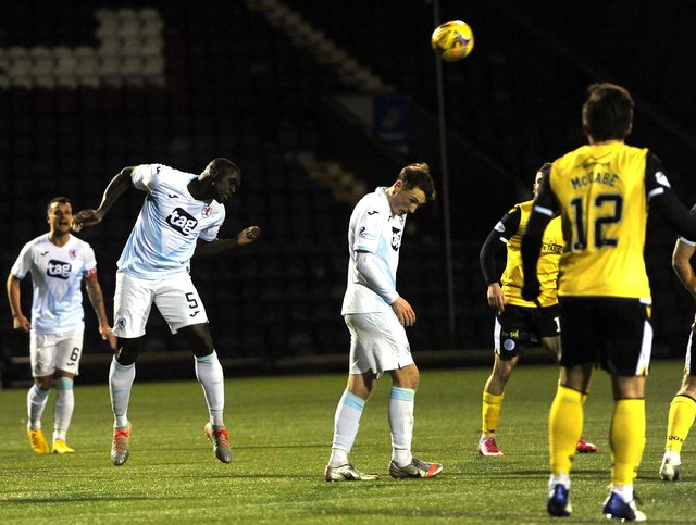 Fernandy Mendy in action for Raith Rovers (Pic: Fife Photo Agency)