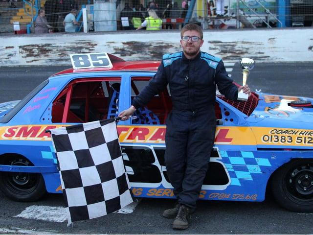 Race winner Kyle Irvine