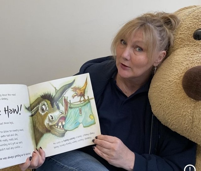 Miss Julie Anderson, headteacher, Burntisland Primary, who has been reading bedtime stories to her pupils using social media during the coronavirus lockdown.