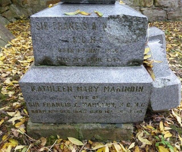 The gravesite of Francis Marindin