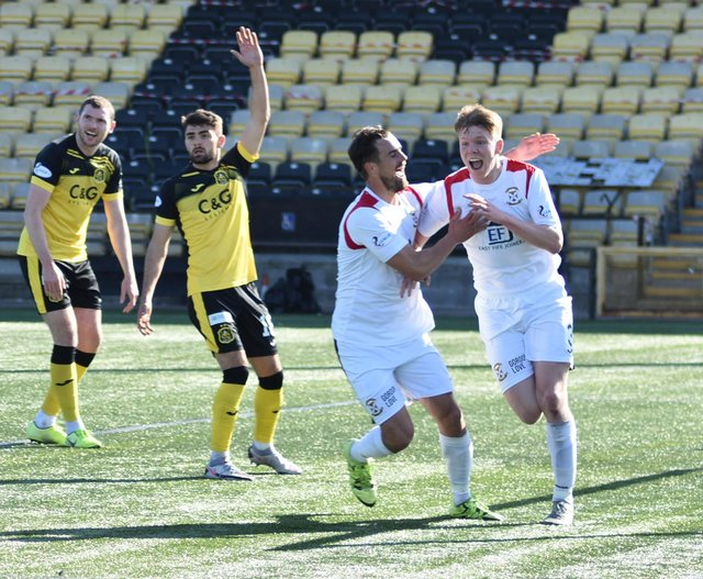 Aaron Steele has signed a permanent deal with East Fife. Pic by Kenny Mackay