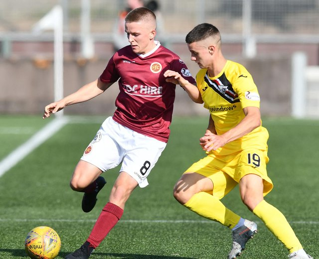 Defender Miller Fenton has joined East Fife from Dunfermline on-loan. Pic by Michael Gillen