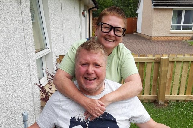 Iain Elder with his wife Janet.