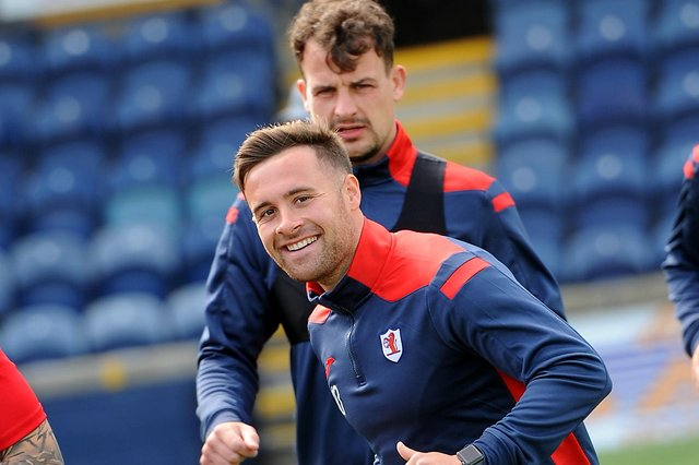 Lewis Vaughan and Kyle Benedictus in pre-season training at Stark's Park (Pic: Fife Photo Agency)