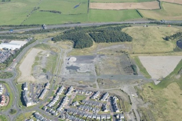 The site of the proposed campus in Dunfermline