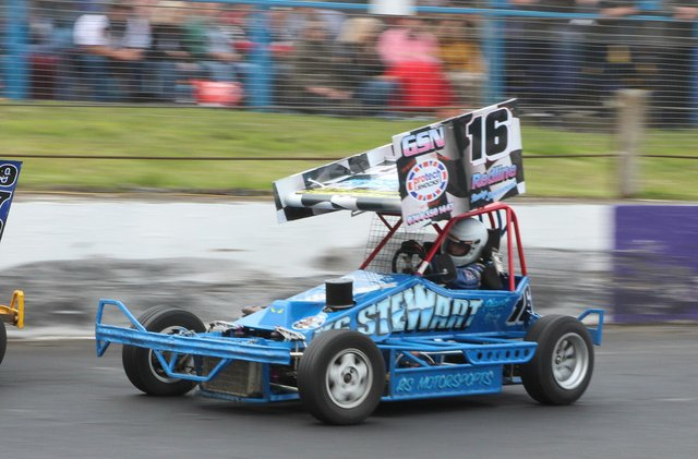Craig Wallace on the track at the Cowdenbeath Racewall