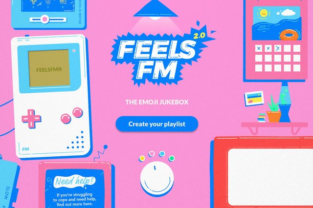 FeelsFM: the emoji-powered virtual jukebox created by See Me Scotland hopes to hear from young users in Scotland about how adults and families can best support them in times of stress and poor mental health.