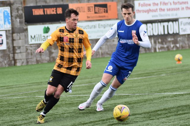 Danny Swanson suffered a serious injury in the pre-season friendly against Burntisland Shipyard