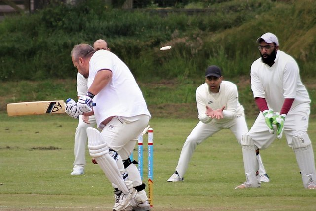 Largo's Paul Smith is bowled
